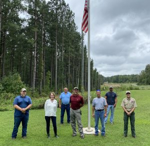 Staff for the 44th annual fall forestry and wildlife tour to be held on WBWF property.